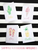 Summer Watercolor Notecards