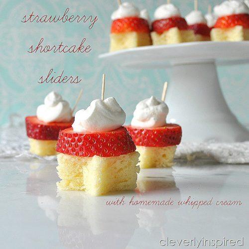 10-minute strawberry shortcake sliders