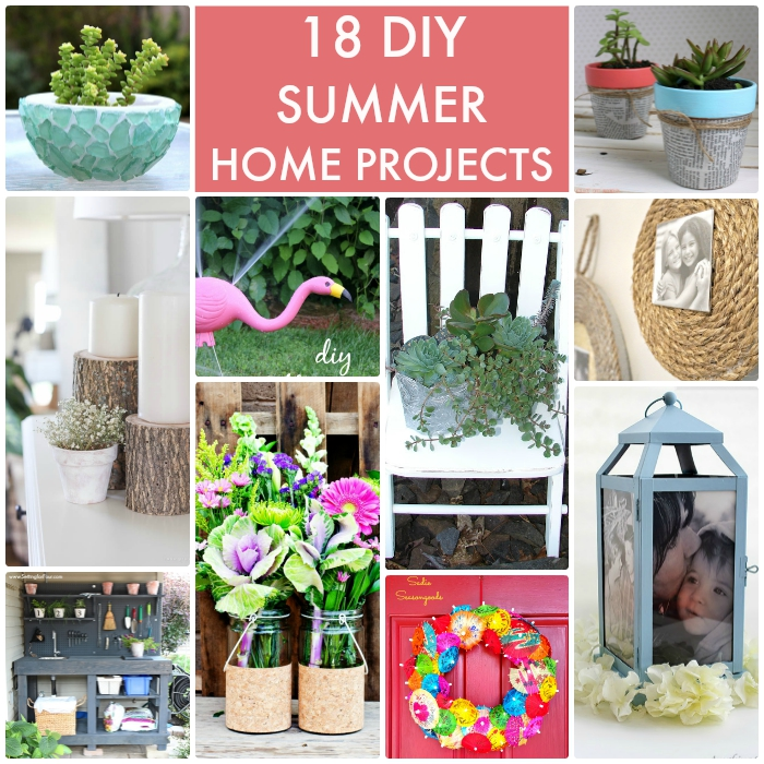 Diy Ideas Summer: Great Ideas -- 18 DIY Summer Home Projects