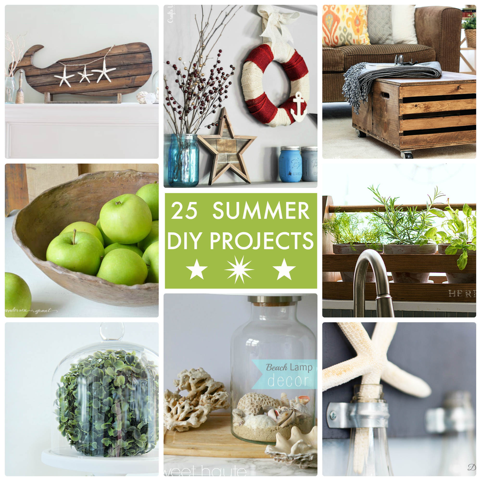 25 Diy Decorating Projects That You Are Inspired To Do: Great Ideas -- 25 Summer DIY Projects