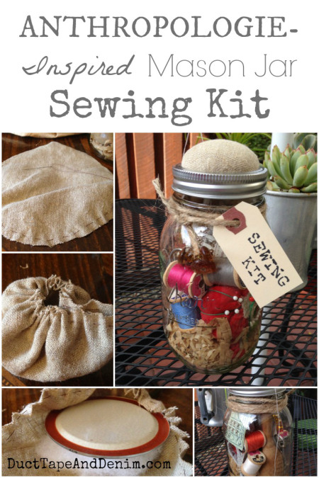 Anthropology-Inspired-Mason-Jar-Sewing-Kit-with-vintage-pattern-shreds-scissors-tomato-pin-cushion-and-more-DuctTapeAndDenim.com_