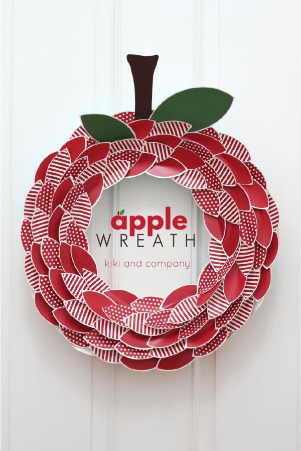 Free Printable Apple Wreath