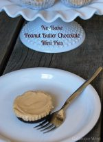 No Bake Mini Peanut Butter Chocolate Pies