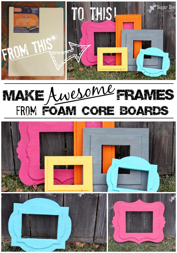 how to make diy frames from foam core board