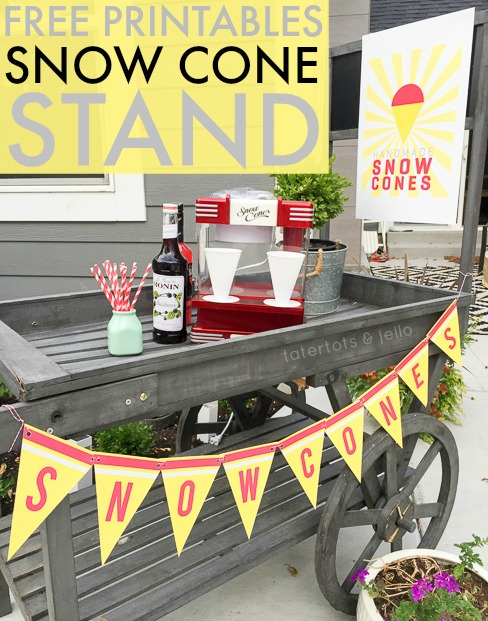 Snow Cone Stand Free Printables Tatertots And Jello