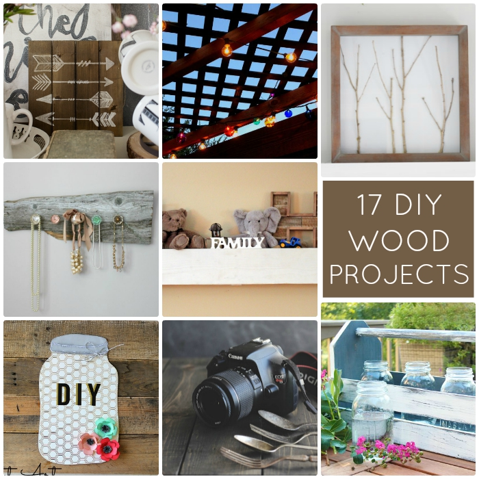 Great Ideas -- 17 DIY Wood Projects