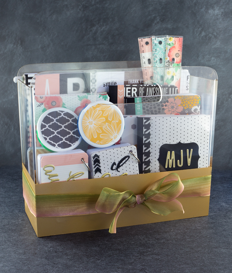 DIY College School Supplies Gift Basket -- Tatertots And Jello