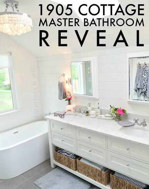 Master Bathroom Reveal: 1905 Cottage Master Bathroom Reveal -- Tatertots And Jello