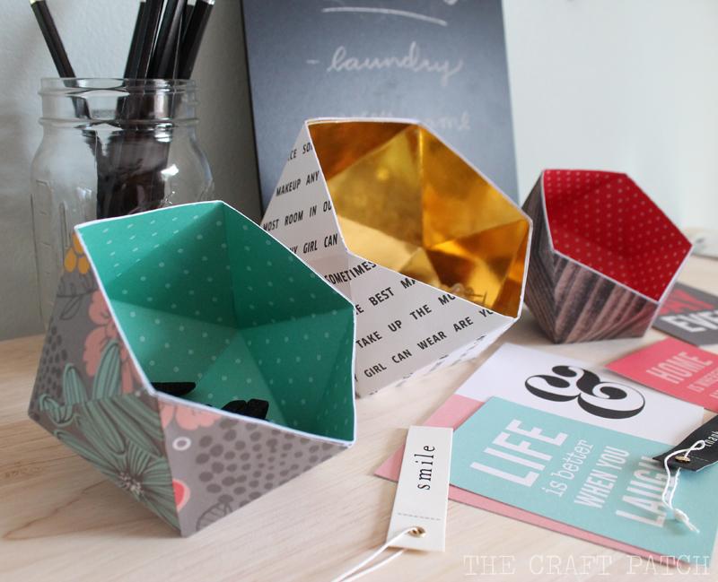 Diy geometric bowls tatertots and jello for Diy paper bowl