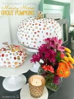 Pottery Barn-inspired Mercury Mirror Grout Pumpkins!