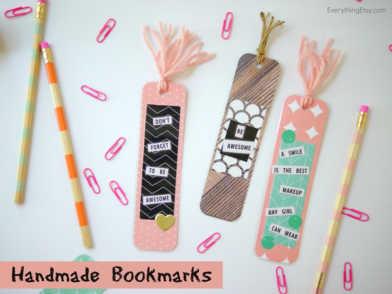 diy handmade bookmarks tatertots and jello