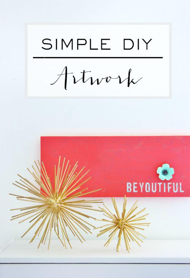 Simple DIY Artwork: BeYOUtiful