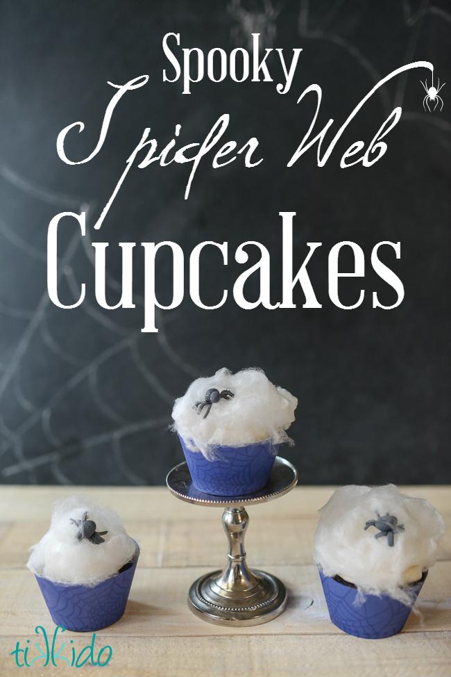 Spider Web Cupcakes Tikkido TEXT