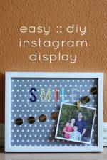 Easy DIY Instagram Display