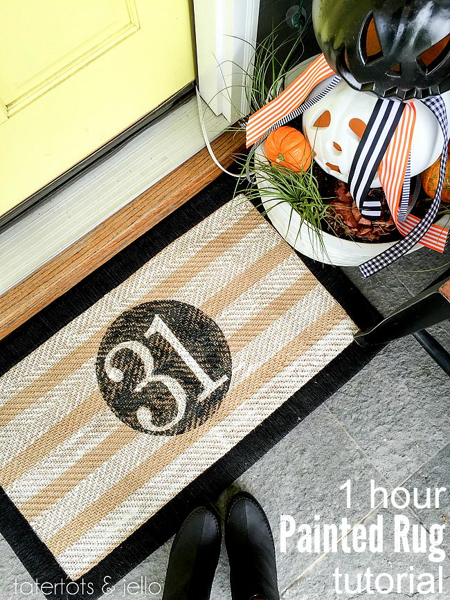 how to paint a rug in one hour