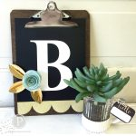 DIY Clipboard Monogram and 3-Dimensional Paper Flower Tutorial!