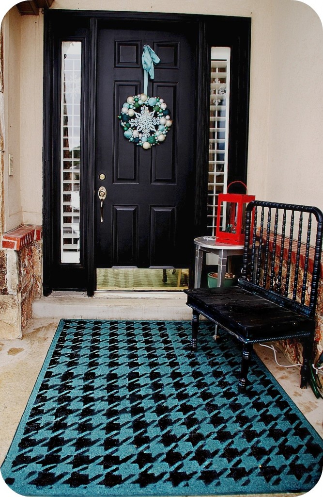 painted houndstooth rug