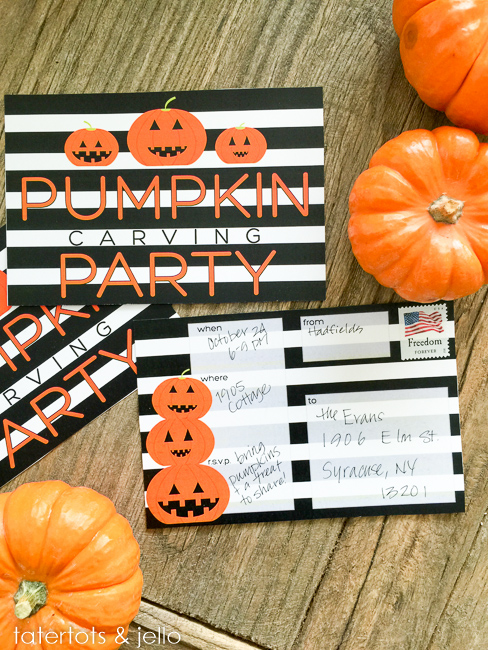 Pumpkin Party Invitations