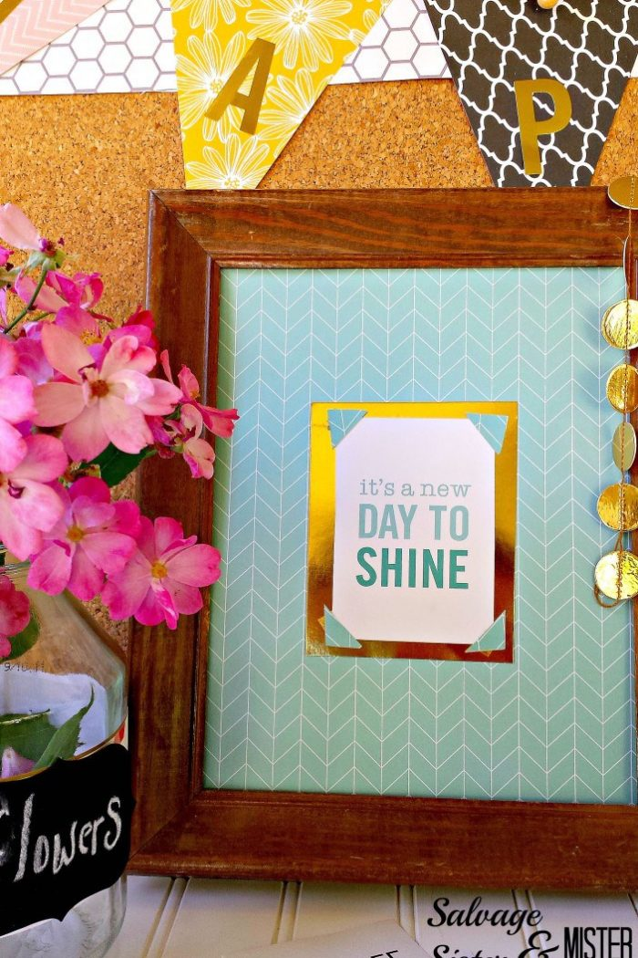 DIY Upcycled Bulletin Board
