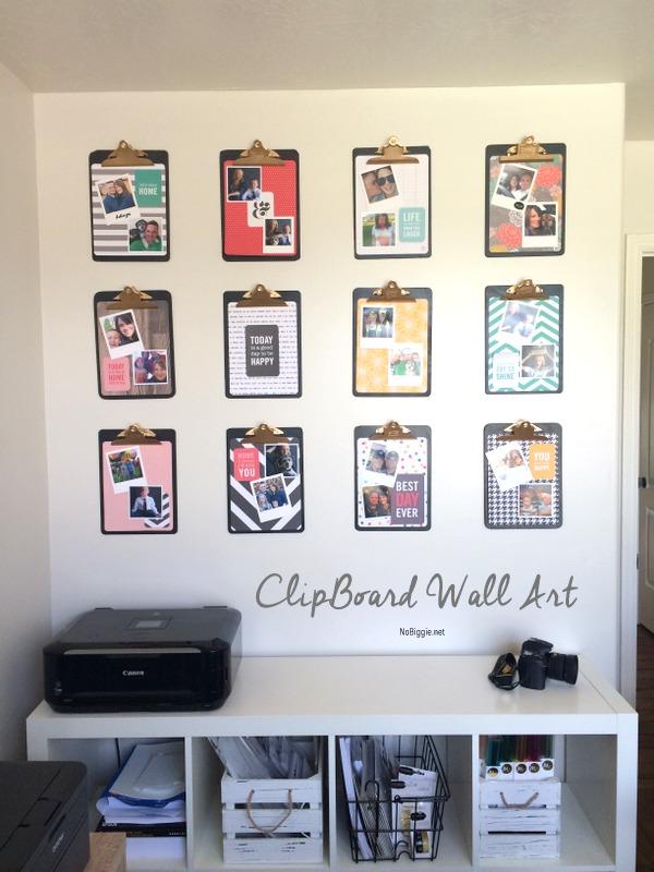 Clipboard Wall Art : Make a diy clipboard photo display tatertots and jello
