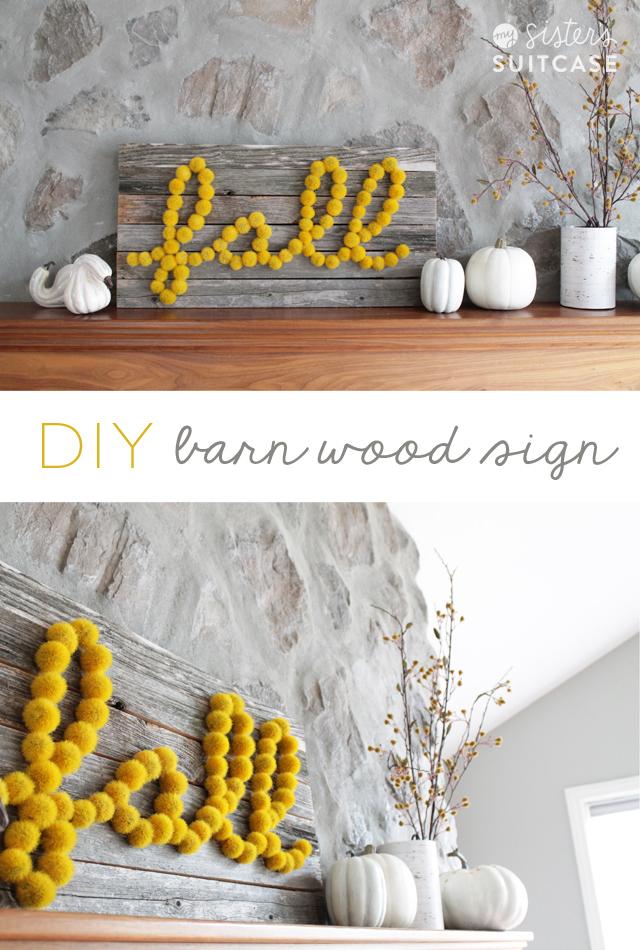 DIY Barn Wood Sign - Tatertots and Jello
