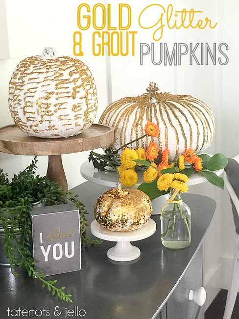 Gold and Grout Pumpkins