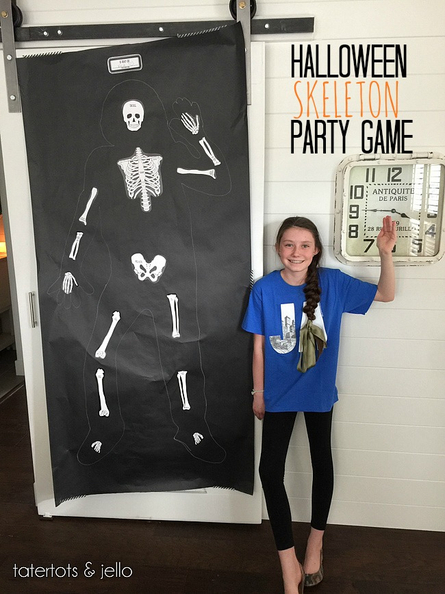 Halloween skeleton party game printables tatertots and - Scary skeleton games ...