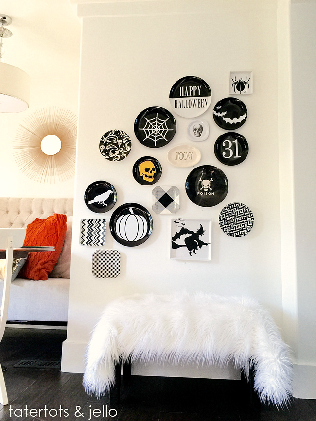 halloween plate wall after