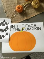 """""""Pin The Face on the Pumpkin"""" Game and Free Printable!"""