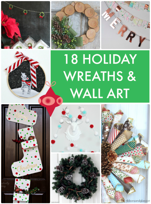 18 Holiday Wreaths and Wall Art