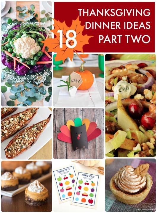 18 Thanksgiving Dinner Ideas Part Two