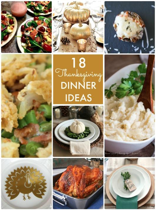 18 Thanksgiving Dinner Ideas