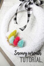 DIY Snowy Wreath Tutorial