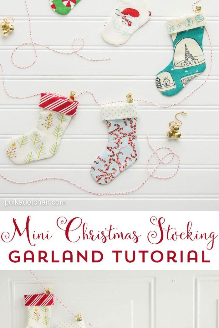 Happy Holidays: Mini Christmas Stocking Garland