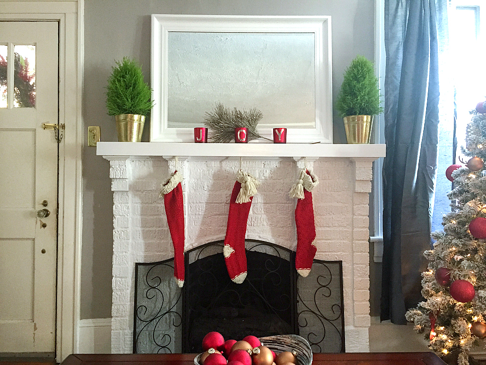 lowes holiday makeover fireplace