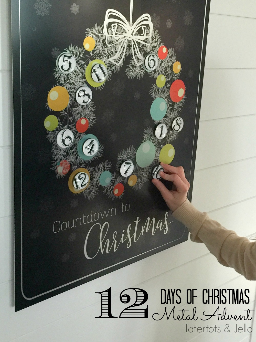 Diy Calendar Background : Metal christmas advent countdown calendar free