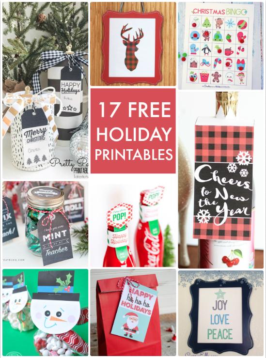 17 Free Holiday Printables
