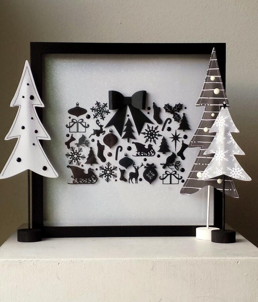 Christmas shadow box scene