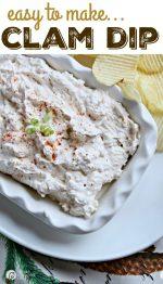 Happy Holidays: Clam Dip Recipe
