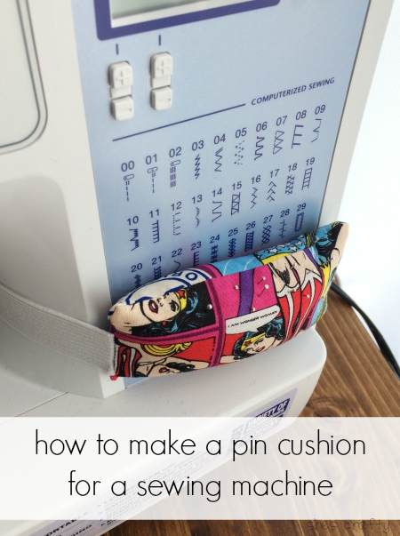 pin cushion for a sewing machine