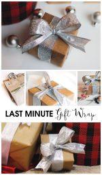 Happy Holidays: Last Minute Gift Wrap Idea