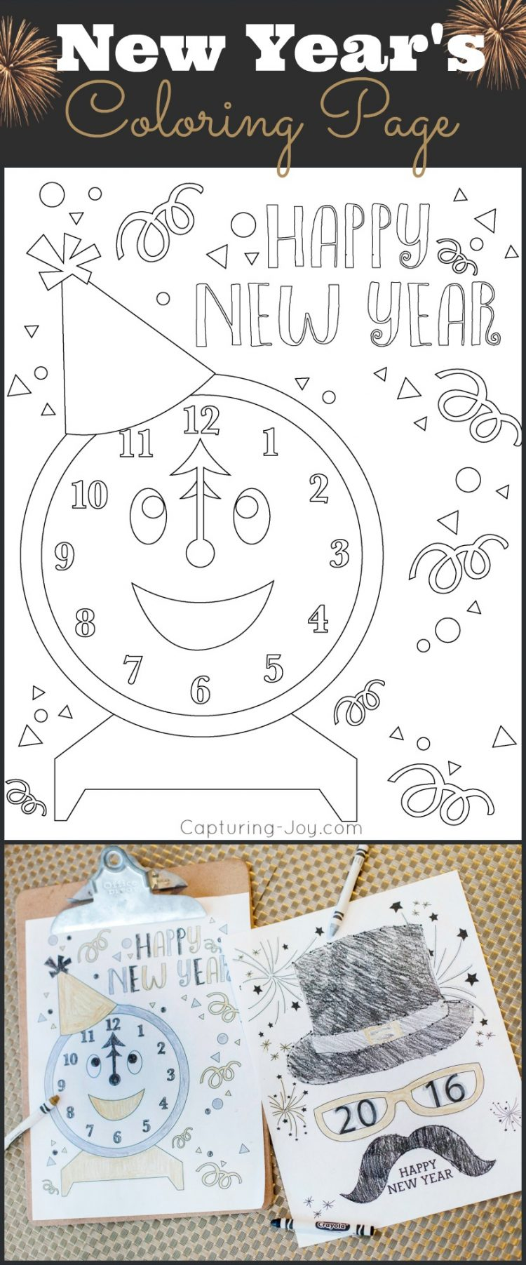 New Years Eve Coloring Pages