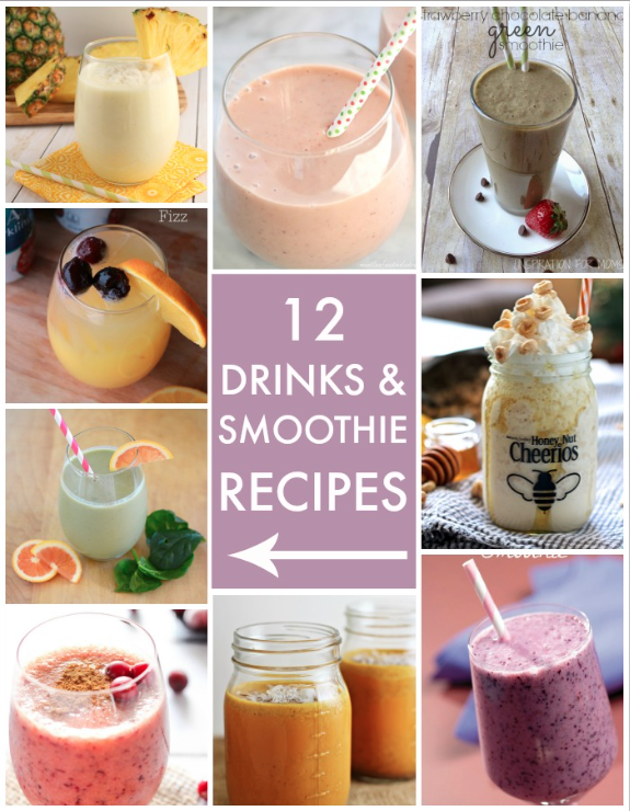 12 Drinks and Smoothie Recipes