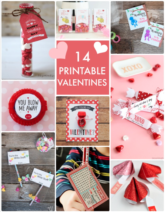 14 Printable Valentines