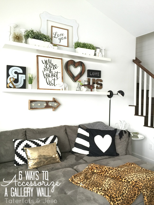 6 ways to accessorize a gallery wall
