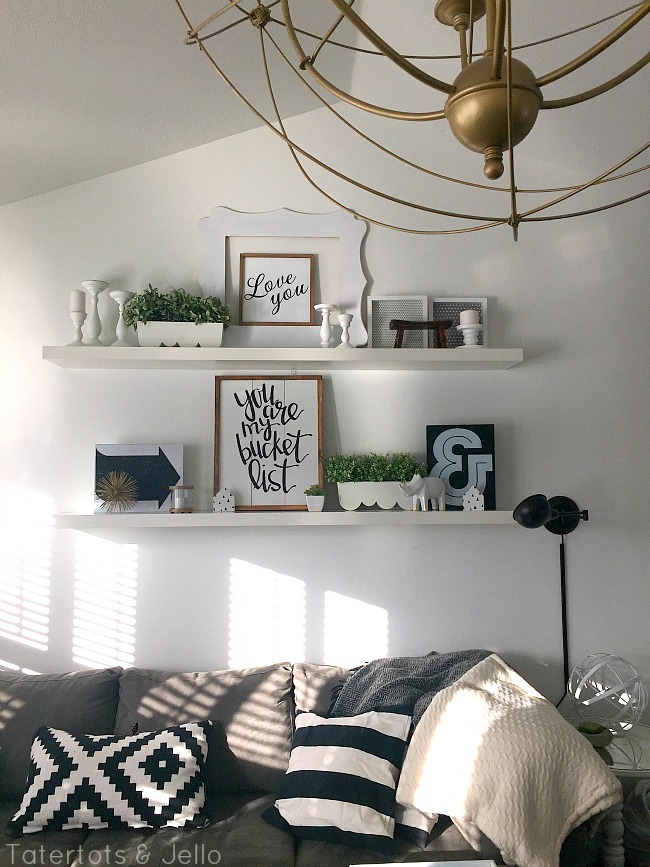 black and white decorating