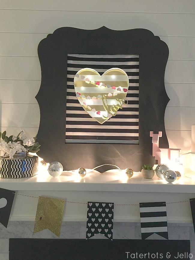 Black and White Valentine's Day Decor
