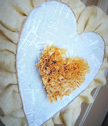 17 Farmhouse and Cottage Valentine's Day ideas. Fast and beautiful ways to bring the spirit of Valentine's Day into your home. Burlap and coffee filter valentine