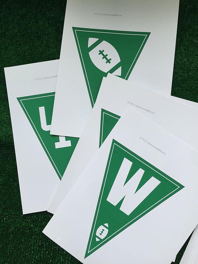 superbowl touchdown free printables