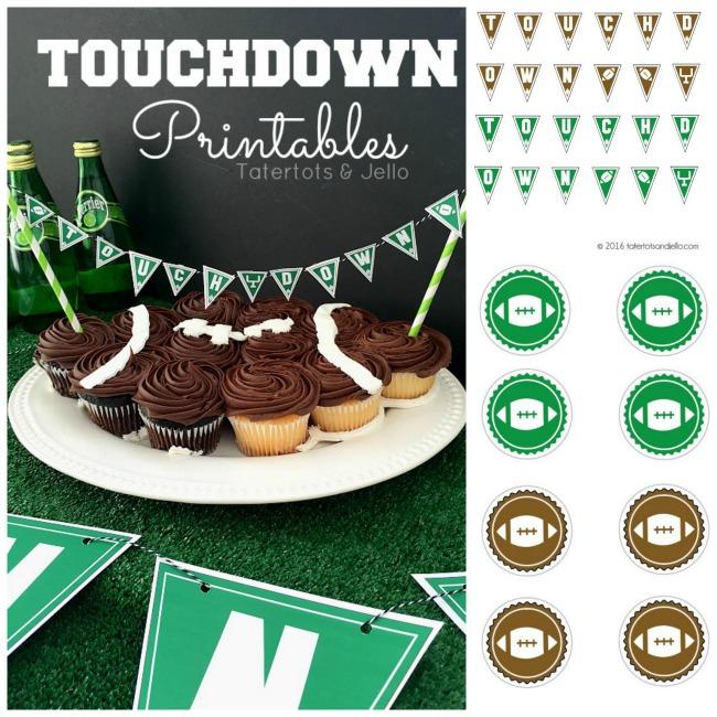 touchdown free game printables